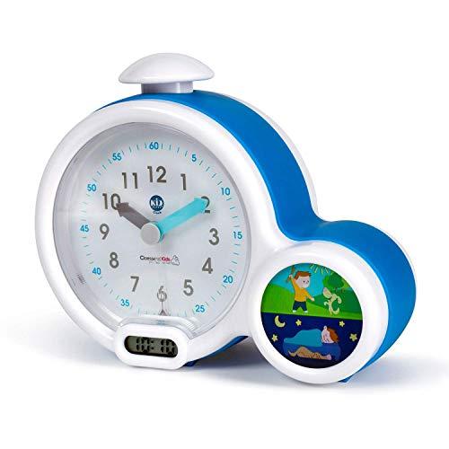 Claessens' Kid - Clock - Réveil Enfant Educatif Jour/Nuit Lumineux - Double Affichage et 3 Alarmes au choix -...