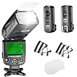 Neewer NW620 Manual Flash Speedlite Kit para Canon Nikon DSLR Cámaras, Incluye: NW620 GN58 Flash Speedlite, Difusor Rígido, 2.4G Disparador Inalámbrico