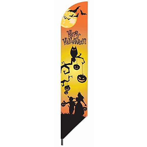 Forum Novelties 74185 Happy Halloween Deko Banner Fahne ()