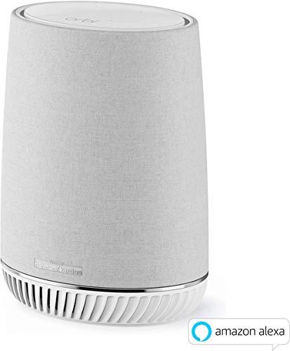 Netgear Orbi RBS40V-100EUS Voice Mesh WLAN Smart Lautsprecher (Erweiterung um 125 m² Abdeckung, integrierte Amazon Alexa, Repeater für Orbi Mesh-WiFi-Systeme, Smart Home Speaker, Harman/Kardon Audio)
