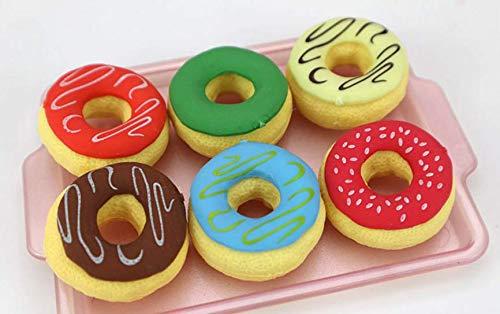s 6 Stück/Set Kinder Cartoon Donut Radiergummi niedliche Lebensmittel Gummi Radiergummi Kinder Schule Schreibwaren-Set Perfekt für Ihre Freunde ()