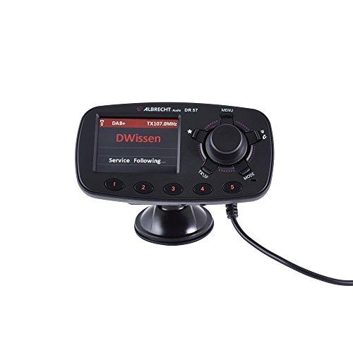 Albrecht 27257 DR 57 Autoradio DAB+ Adapter (DLS) mit Bluetooth Freisprechanlage schwarz