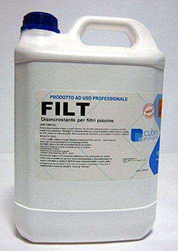 Filt detergente detersivo disincrostante per filtri piscina 5 kg