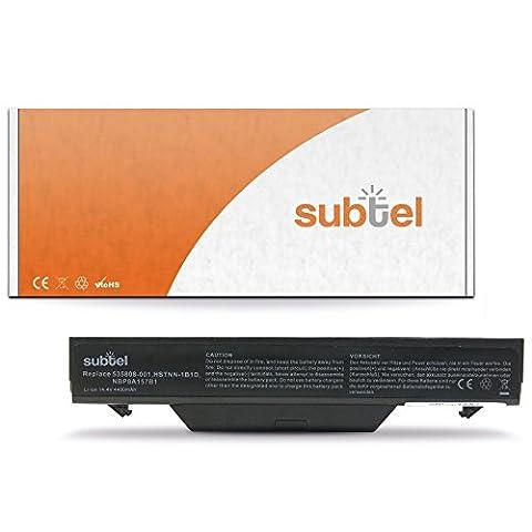 subtel® Batterie premium (4400mAh) pour HP ProBook 4510s 4515s 4710s 4720s Batterie de recharge, ordinateur Accu remplacement