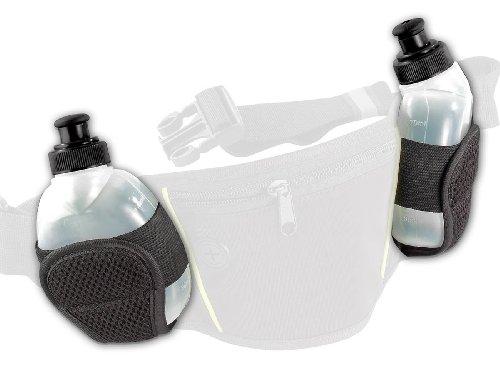 PEARL Sports Zubehör zu Trinkgürtel zum Laufen: Ersatztrinkflaschen für NC-2819, 2er Set (Trinkgürtel mit Trinkflasche)