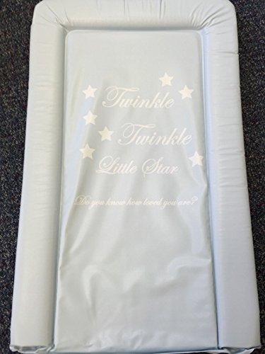 Preisvergleich Produktbild Deluxe Unisex Baby wasserdicht Wickelunterlage mit Rand–Twinkle Twinkle Little Star, Do you know how loved you are Bold Blau