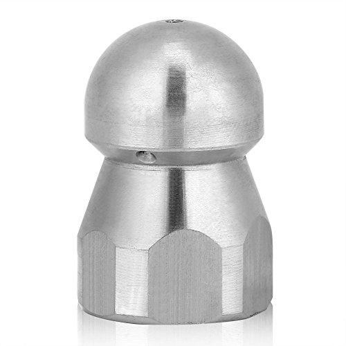 Reinigungsdüse Zubehör Rohrreinigungsdüse Nozzle Edelstahl für Hochdruckreiniger 3/8 Inch