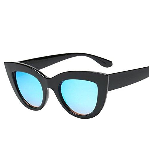 Sonnenbrille,SUCES Frauen Vintage Cat Eye Retro Brillen Mode Damen Klassische Modische Sonnenbrille mit Mini polarisierten Gläsern für Baseball Skifahren Golf Laufen Radsport (E)
