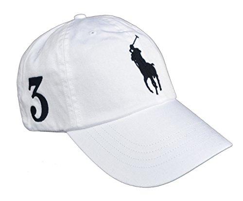 Ralph Lauren Big Pony Cap Basecap Weiß White One Size