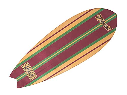 Trickboard Balance Board, Surf Trainer - SET Mermaid + Roller + Teppich/Bodenschutzmatte - Balance Training