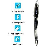 OMZBM Pequeño Dispositivo Portátil De Grabación Recargable, Actualizado 16 GB Capacidad 4 En 1 Multifunción Micro Recording Pen,Gray