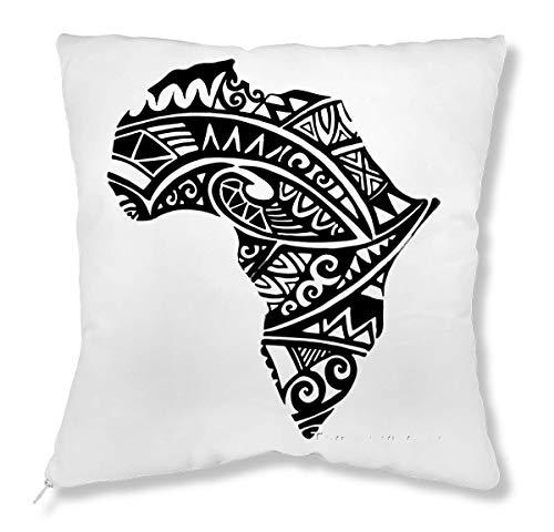 RaMedia Tribal Native Africa Black Artwork Stylish Kissen - Tribal Artwork