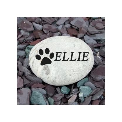 Signs & Numbers Pet Memorial Pebble SMALL 2