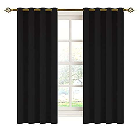 Gaotiancun Home Energy Saving Thermal Insulated Eyelet Blackout Curtains Set,