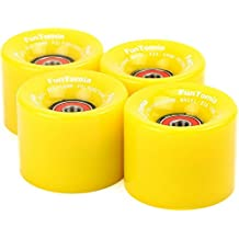4x FunTomia - Skateboard wheels ruedas 59x45 mm 82A - con 8x Mach1® rodamientos ABEC-11