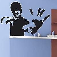 "IDEAVINILO ÚNICO VENDEDOR ORIGINAL -vinilo decorativo ""Bruce Lee"". Color negro. Medidas: 85x60cm."