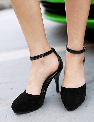 WSS 2016 Chaussures Femme-Mariage / Soirée & Evénement / Habillé / Décontracté-Noir / Bleu / Beige-Talon Aiguille-Talons-Talons-Laine synthétique blue-us5.5 / eu36 / uk3.5 / cn35