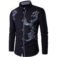 Herren Oberteile,TWBB Drachen Drucken Pullover Sweatshirt Poloshirt Lange Ärmel Shirt Blusen Casual
