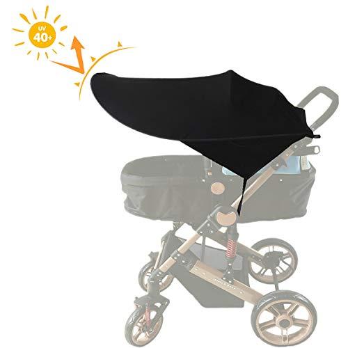 AUVSTAR, parasole per passeggino e seggiolino, con eccellente protezione UV, nero