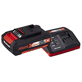 Einhell Power-X-Change Battery and Charger Starter Kit with 1 x 2 A Li-Ion, 18 V - Red