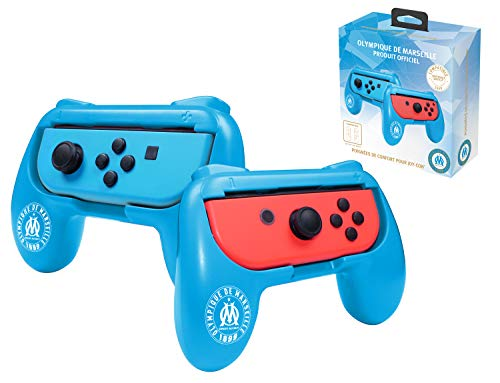 Pack de 2 poignées de confort ergonomiques pour manette Joy Con Nintendo Switch - Droit/Gauche - OM Olympique de Marseille