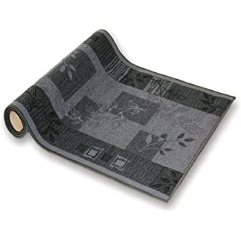 teppichl ufer flur l ufer br cke teppich agadir akzent grau meterware rutschfest 67 cm breit 67. Black Bedroom Furniture Sets. Home Design Ideas