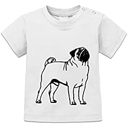 Camiseta de bebé Pug Outline by Shirtcity
