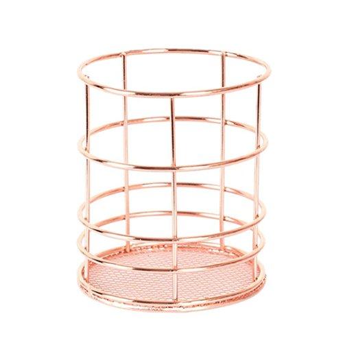 Back Packers Hohl Rose Muster Make-up-Pinsel Vase Pot Stifthalter Schreibwaren Lagerung Organizer Container