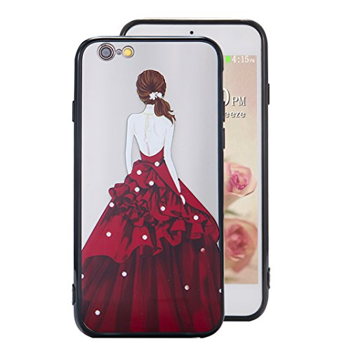 Coque iPhone 6 Plus Case, Silicone Housse iPhone 6S Plus apple Case Rosa Schleife® Etui iPhone 6 Plus TPU Gel de Silicone Ultra mince Cas Transparente Housse de Protection Back Cover Protective Shell  2-Style