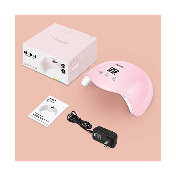 ELEHOT Lampara led uñas Pantalla LCD Secador de uñas de Botón Táctil Sensor Automático de infrarrojos 3 Temporizadores…