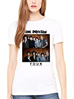 Official One Direction Group Four Women's Shirt Niall Horan 1D Teen Music Irish