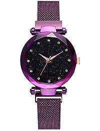 70f383337e Xinew Purple Milanese Loop Strap Multi-Colour Dial Women/Girls Watch - (XIN