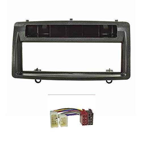 tomzz Audio 2455-016 Radioblende Set passend für Toyota Corolla E12 E120 Bj.2002-2007 schwarz mit Radioadapter ISO