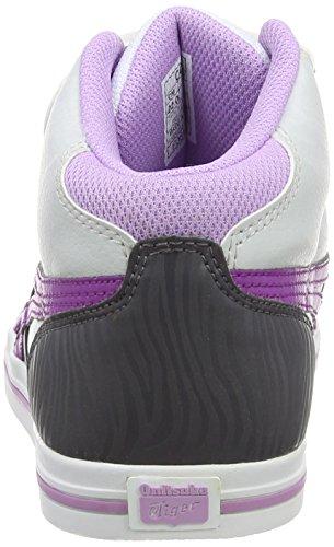 Onistuka Tiger Aaron MT PS, Chaussons Sneaker Mixte enfant Gris (Soft Grey/Hyacinth Violet 1034)