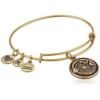 Alex and Ani Ouroboros Expandable Rafaelian Gold Bangle Bracelet