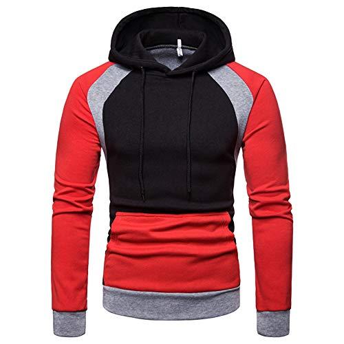 Beonzale Herren Herbst Winter Raglan Langarm Hoodie Pullover Sweatshirt Top Bluse
