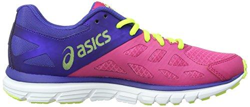 ASICS Gel-Zaraca 3, Chaussures Multisport Outdoor Femmes Rose (Hot Pink/Silver/Flash Yellow 2093)