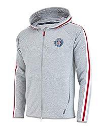 PARIS SAINT GERMAIN Jacke Sweatshirt mit Kapuze und Reißverschluss PSG Offizielle Kollektion - Herrengröße L