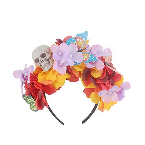 Yumimi88 Stirnband Halloween Kopfschmuck Cute Flower Prom Zubehör Halloween Haarband Einstellbare für Halloween Party - Cute Mutter Und Tochter Kostüm