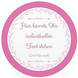 24 PERSONALISIERTE runde Etiketten mit Motiv: Schlichtes Rosa - Ihre Aufkleber online selbst gestaltet, ganz individuell