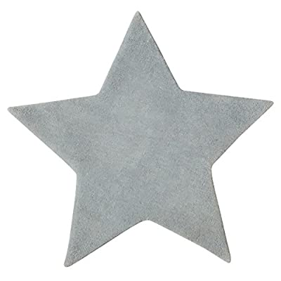 Microfibre rug for child's bedroom - Star shape - Colour GREY produced by ATMOSPHERA - quick delivery from UK.
