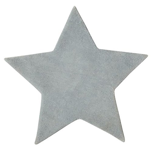 microfibre-rug-for-childs-bedroom-star-shape-colour-grey