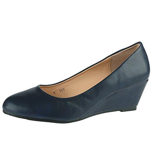 bypublicdemand-wendy-womens-low-wedge-heel-slip-on-smart-court-shoes-6-uk-39-eu-navy-blue-faux-leath