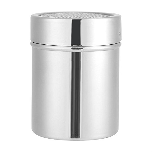 Pulver Dispenser, Küche Edelstahl Schokoladen Shaker Kakao Kaffeepulver Mesh Dispenser