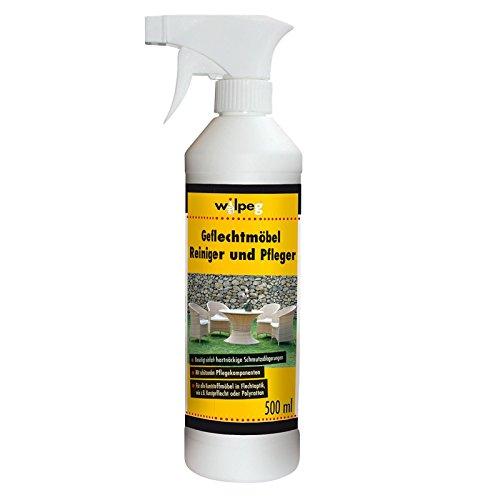 WILPEG Geflechtmöbel Reiniger und Pfleger - 500 ml - Mit schützenden Pflegekomponenten