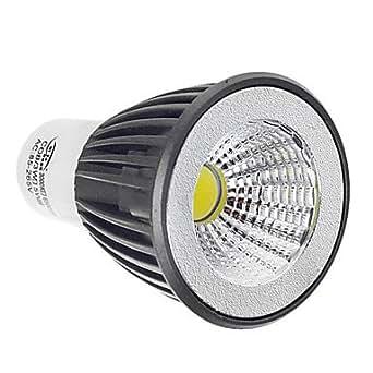NingB Ziyu ZY-COB-314 GU5.3 MR16 3W 280lm 6500K COB LED ampoule de lampe blanche légère - noir + blanc (AC 85 ~ 265V)