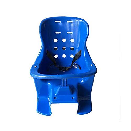 CHENG Radfahren Kindersitze Fahrrad Kindersitz Hinten Kunststoff Verdickung Infant Mountainbike Sitz,Blue,57 * 29cm