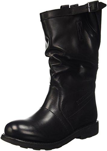 Bikkembergs Vintage 176 Mid Boot W Dyed Leat, A Collo Alto Donna, Nero, 37 EU