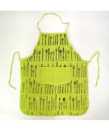 10XDIEZ Delantal Rizo Tenedor Verde