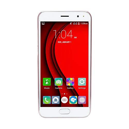 Oasics Smartphone, Neue Art und Weise 5,0 Zoll Doppel-SIM Smartphone Androides 5.1 VOLLER Schirm GSM/WCDMA-Touch Screen WiFi Bluetooth GPS 3G Anruf-Handy (Rose Gold)